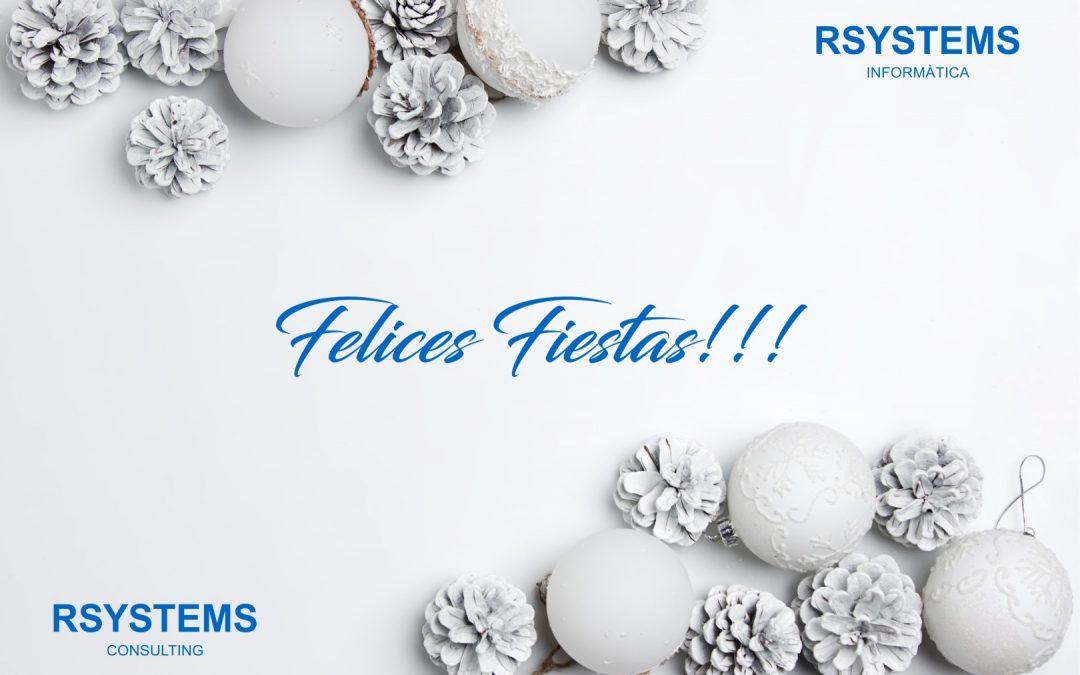 Todo el Equipo de Rsystems Informática y Rsystems Consulting os desea unas Felices Fiestas!
