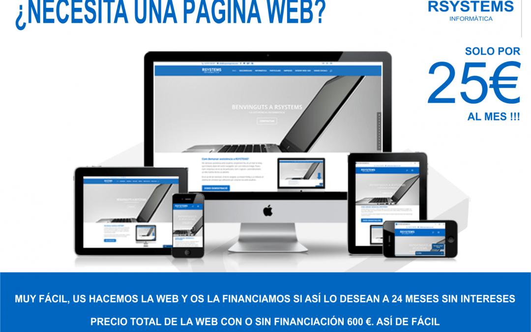 ¿NECESITA UNA PÁGINA WEB?